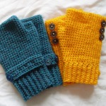 Seamless fingerless gloves
